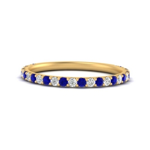 0.35-carat-three-forth-way-down-pave-diamond-band-with-sapphire-in-FD9654BGSABL-NL-YG