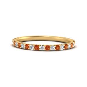0.35-carat-three-forth-way-down-pave-diamond-band-with-orange-sapphire-in-FD9654BGSAOR-NL-YG