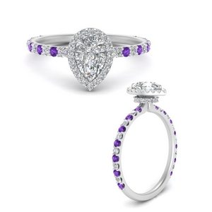 pear-shaped-double-under-halo-micropave-engagement-ring-with-purple-topaz-in-FD9654PERGVITOANGLE3-NL-WG