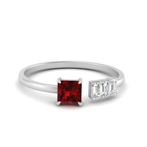Ruby Negative Space Ring