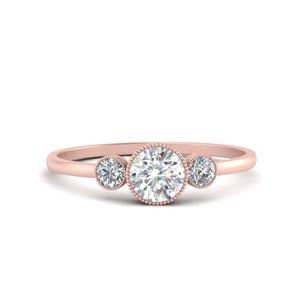 Bezel Set 3 Stone Ring