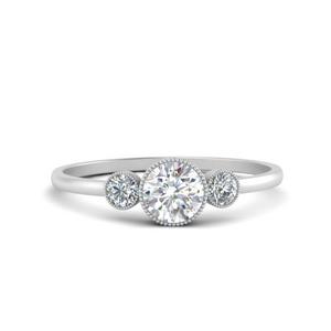 Bezel Set Lab Grown Diamond Ring