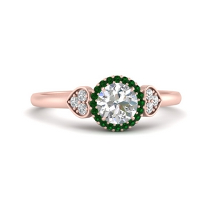 Cluster Halo Emerald Ring