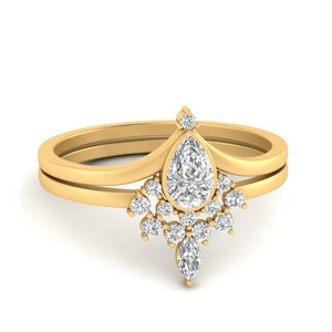 tiara-pear-bezel-diamond-wedding-ring-set-in-FD9670PE-NL-YG