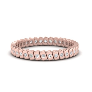 Bar Diamond Stack Eternity Band