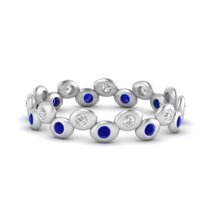 Bezel Set Eternity Stacking Band