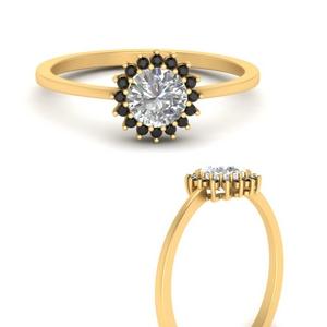 sunflower-round-halo-black-diamond-engagement-ring-in-FD9704RORGBLACKANGLE3-NL-YG