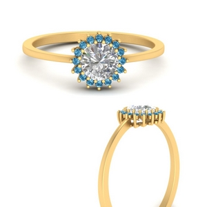Sunflower Halo Topaz Ring