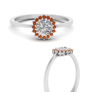 sunflower-round-halo-orange-sapphire-engagement-ring-in-FD9704RORGSAORANGLE3-NL-WG