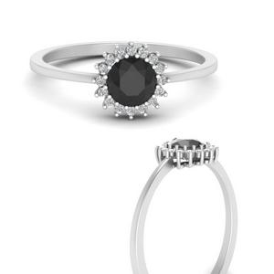 Black Diamond Sunflower Ring