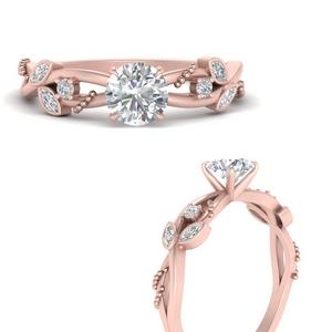 Round Side Stone Lab Diamond Rings