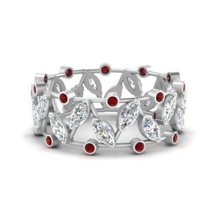Art Deco Marquise Wide Band