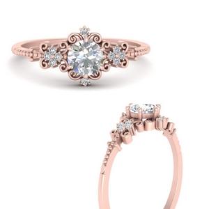 Delicate Art Deco Moissanite Ring