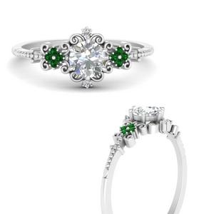 Delicate Art Deco Emerald Ring