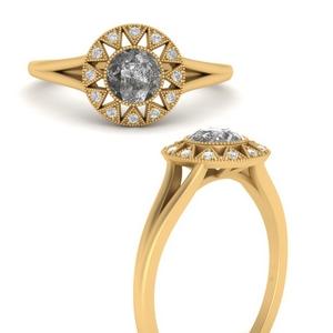 Vintage Grey Diamond Ring