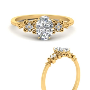 Oval Filigree Diamond Ring