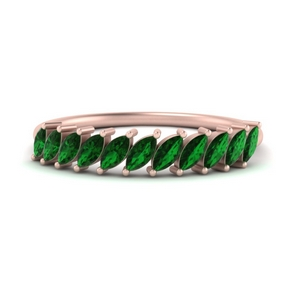 Marquise Emerald Affordable Band