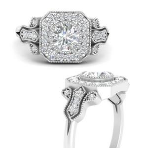 Edwardian Moissanite Halo Ring