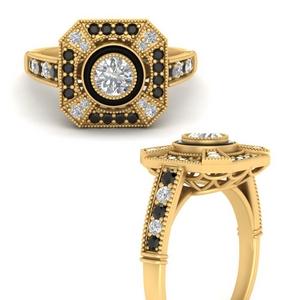 big-antique-black-diamond-engagement-ring-in-FD9732RORGBLACKANGLE3-NL-YG