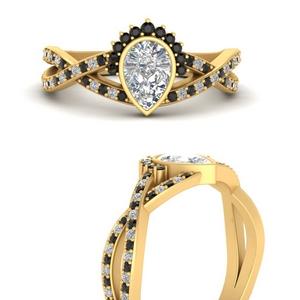bezel-set-pear-split-band-crown-black-diamond-engagement-ring-in-FD9734PERGBLACKANGLE3-NL-YG