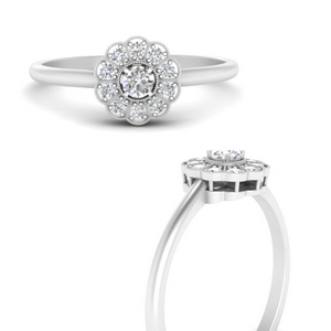 Affordable Halo Round Ring
