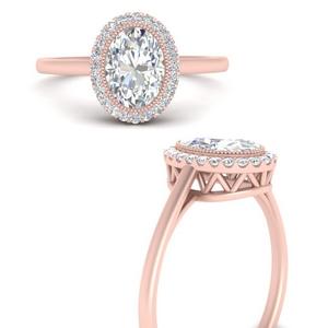Oval Lab Diamond Halo Ring