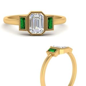 bezel-set-baguette-three-stone-emerald-engagement-ring-in-FD9745EMRGEMGRANGLE3-NL-YG