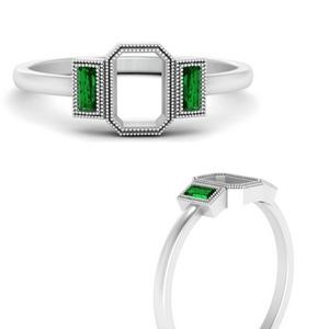 semi-mount-bezel-set-baguette-three-stone-emerald-engagement-ring-in-FD9745SMRGEMGRANGLE3-NL-WG