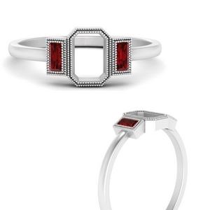 semi-mount-bezel-set-baguette-three-stone-ruby-engagement-ring-in-FD9745SMRGRUDRANGLE3-NL-WG