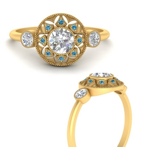 round-halo-diamond-milgrain-engagement-ring-with-blue-topaz-in-FD9747RORGICBLTOANGLE3-NL-YG