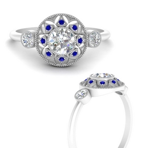round-halo-diamond-milgrain-engagement-ring-with-sapphire-in-FD9747RORGSABLANGLE3-NL-WG