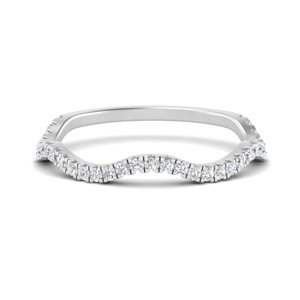 Curved Band For Twisted Ring