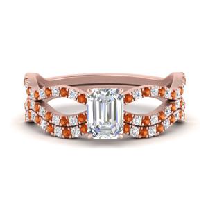 emerald-cut-vintage-twisted-diamond-bridal-ring-set-with-orange-sapphire-in-FD9749EMGSAOR-NL-RG
