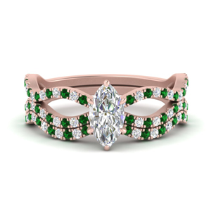 marquise-cut-vintage-twisted-diamond-bridal-ring-set-with-emerald-in-FD9749MQGEMGR-NL-RG