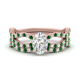 oval-shaped-vintage-twisted-diamond-bridal-ring-set-with-emerald-in-FD9749OVGEMGR-NL-RG
