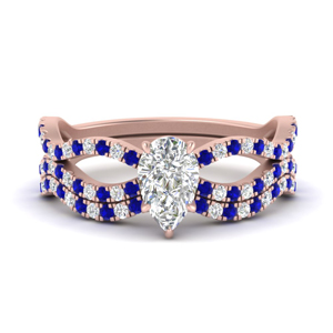 pear-shaped-vintage-twisted-diamond-bridal-ring-set-with-sapphire-in-FD9749PEGSABL-NL-RG
