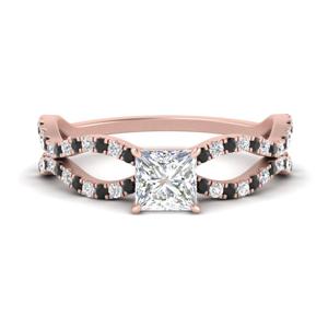 Lab Diamond Split Wave Ring
