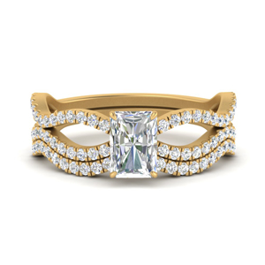 radiant-cut-vintage-twisted-diamond-bridal-ring-set-in-FD9749RA-NL-YG
