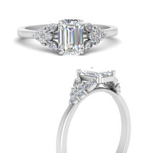 Beautiful Marquise Cluster Diamond Engagement Ring