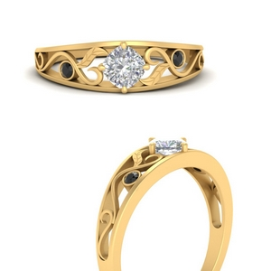 nature-inspired-compass-point-black-diamond-engagement-ring-in-FD9758CURGBLACKANGLE3-NL-YG