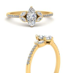 Marquise Vintage Lab Diamond Rings