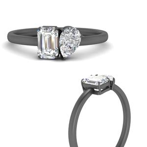 2 Stone Big Diamond Ring