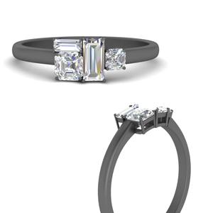 Asymmetrical Offbeat Diamond Ring