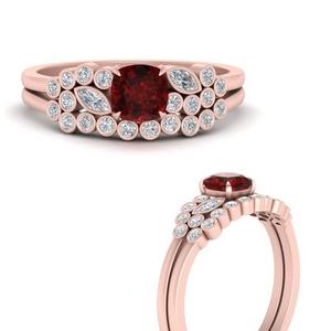 cushion-cut-cluster-ruby-wedding-ring-set-in-FD9777CUGRUDRANGLE3-NL-RG