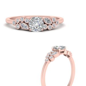 Unique Bezel Accent Diamond Ring