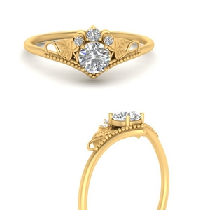 Beautiful Moissanite Round Floral Ring