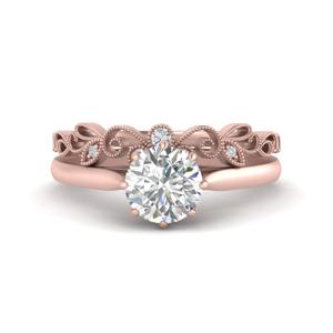 Filigree Band With Diamond Ring