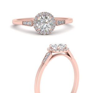 Halo Cathedral Diamond Ring