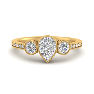 3-stone-pear-shaped-art-deco-bezel-set-diamond-engagement-ring-in-FD9800PER-NL-YG