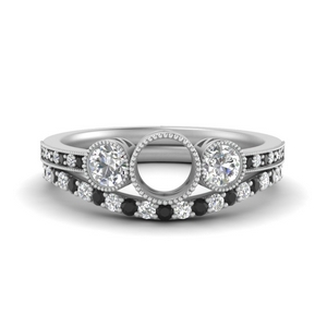 Semi Mount Ring With Curved Band